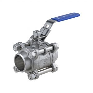 3-Piece Ball Valve, butt weld ends
